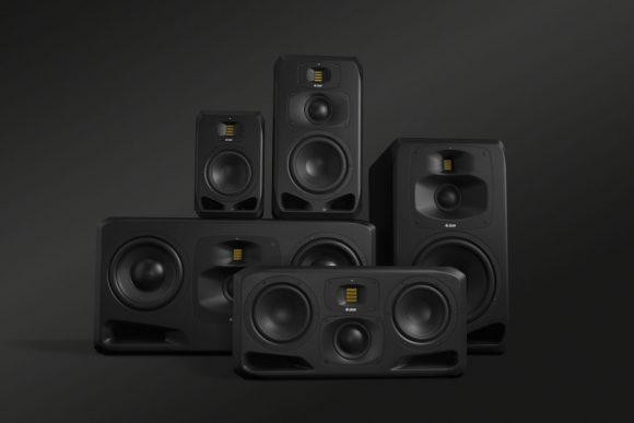 Imagen mostrando los 5 modelos de la nueva Serie S de ADAM Audio